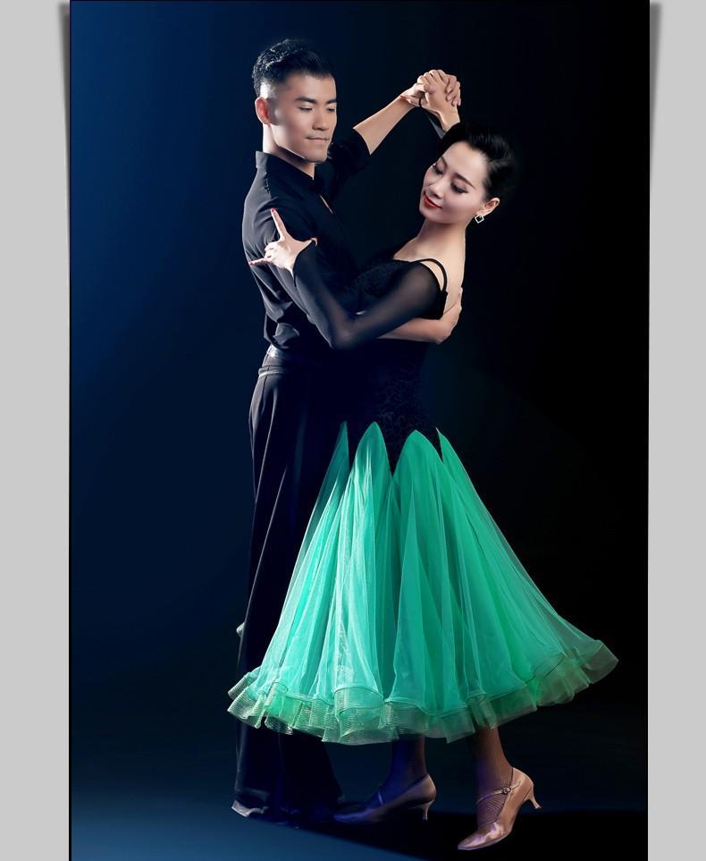 Elbise Yeşil / Rose / Şarkıcılar Jazz / Tango / Waltz Elbise İçin Mavi Elbise Balo Standart Dans Sahne Kostümler Dans 2018 Balo