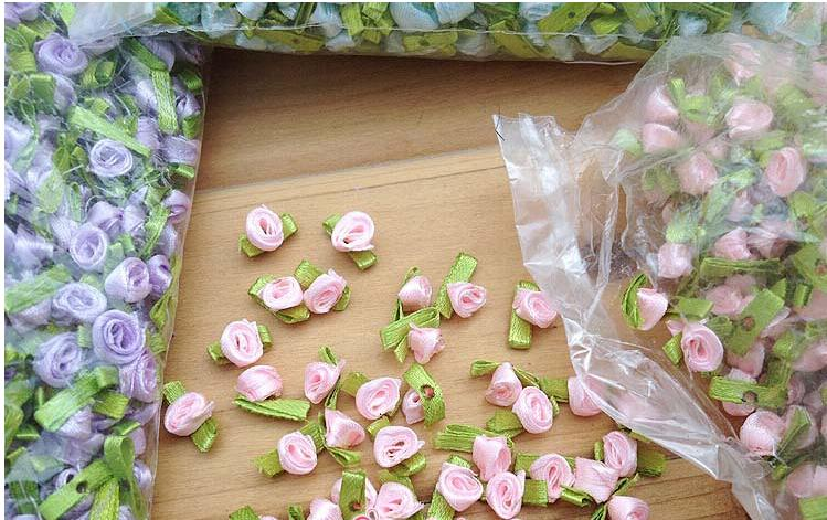 Wholesale Handmade DIY material doll ribbon flower Decorative Flowers candy box packing gift accessories