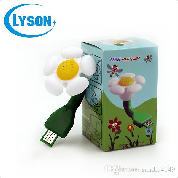 10ml Capacity Colorful Flower USB Laptop Essential Oil Dffuser Electric Mini Plastic Scent Flower USB Plug Aroma Diffuser