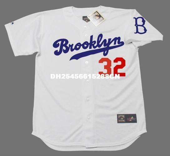 32 SANDY KOUFAX JERSEYS Brooklyn Dodgers Majestic Cooperstown Home Baseball  Jersey Retro Baseball Jerseys Baseball Jersey Throwback Baseball Jersey  Online ... 65eea1b68
