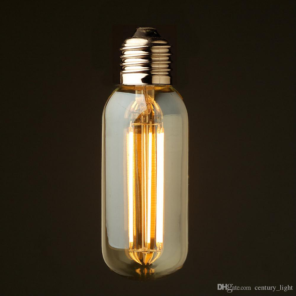 Vintage led long filament light bulb6w 2200kgold tintedison t45 vintage led long filament light bulb6w 2200kgold tintedison t45 tubular styledecorative lightingdimmable decorative led bulbs chandelier led bulbs from aloadofball Images