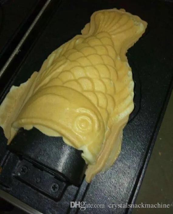 Commercia 3 Adet Gaz Balık Waffle Makinesi Açık Ağız Kore Balık Waffle Makinesi Taiyaki Makinesi Dondurma Balık Şekil Waffle Baker