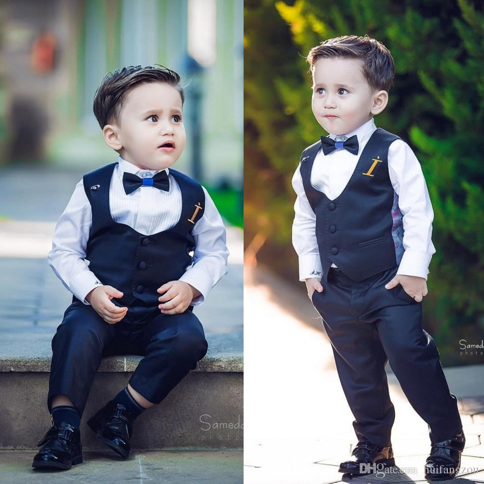 Wedding Events The Boy Gentleman Suit Peaked Lapel Boys Suits Tie Sale Custom Made Formal Boy's Wear