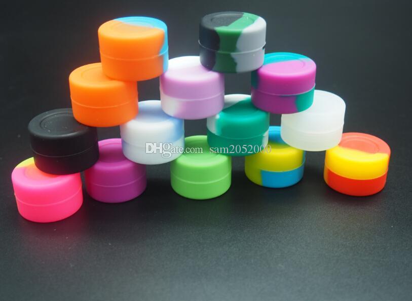 500 Stück / nonstick Lebensmittel Silikon Wachsbehälter 3ML Silikon jar dab 26mmX17mm
