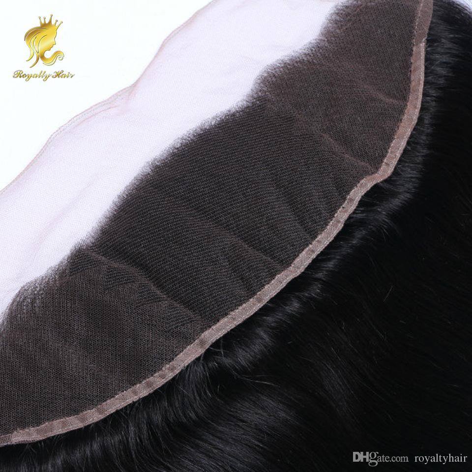TRANSPARENCE brésilien cheveux dentelle Frontal Fermeture 13x4 8-20inc droit Nœuds Blanchis pleine dentelle Frontal brésilienne fermeture sans enchevêtrement excrétion pas