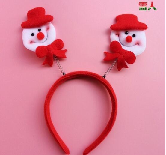 Weihnachtshaarbänder Sankt-Schneemann-Rentierbärenkopf-Band-Weihnachtsfestzubehör-nette Spaß gute Qualitätsfeiertagshaarbänder