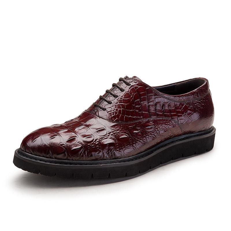 Vintage Florsheim Men S Size 6 11 Black Pebbled Leather Oxfords