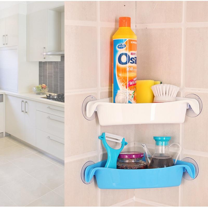 2018 Bathroom Racks Kitchen Holder Toilet Corner Storage Rack ...