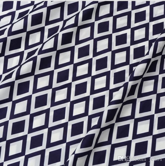 Vendita calda Ladies Summer Diamond stampato Slim musulmano 3/4 manica o-collo Maxi Dress Plus Size S-XL