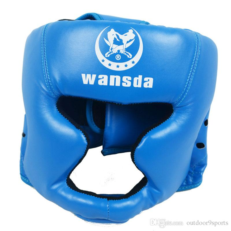 Closed Type Boxing Head Guard Sparring Helmet MMA Muay Thai Kick Boxing Brace Head Protection Boxing