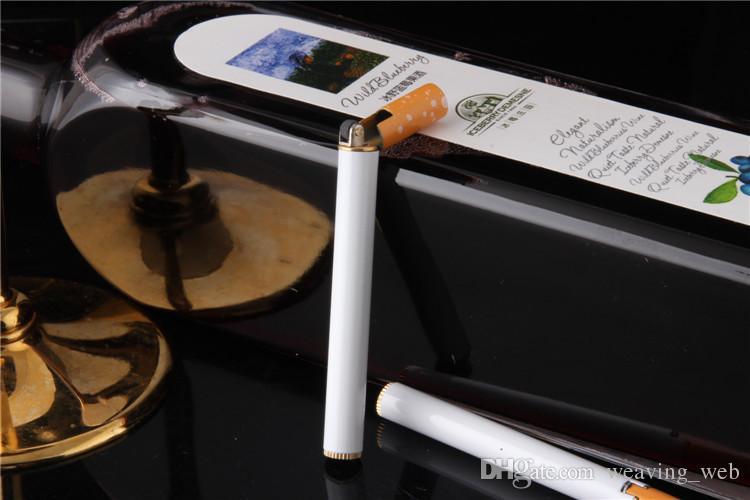 accendisigari a forma di sigaretta novità metallo mini portatile ricaricabile accendini a gas butano fumo Accessori tipo di sigaretta