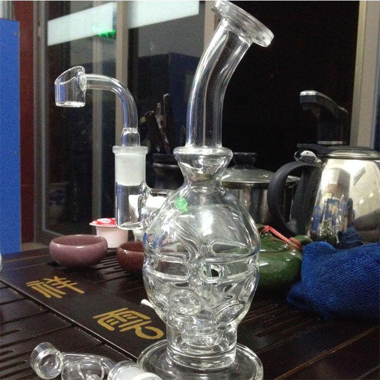 piattaforme petrolifere bong in vetro Tubi d'acqua in vetro Faberge Egg con chiodo al quarzo Banger Club spessa 4 mm 14,5 mm / 18,8 mm Maschio / Femmina