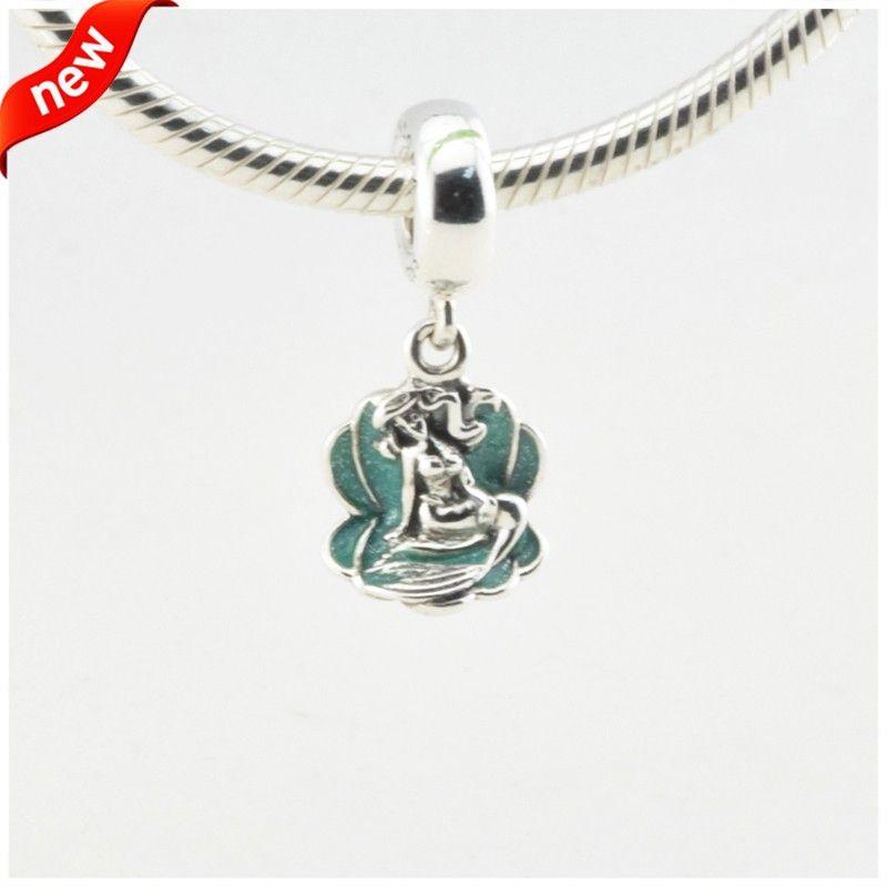 Ariel Dans Un Coquillage Charms Convient Argent Charms Bracelets Femmes Bijoux Disny Original 925 Sterling Silver Charms 2016 Printemps Bijoux