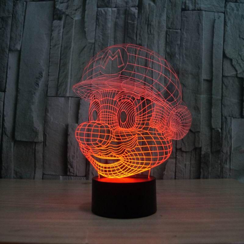 Magical Optical Illusion 3D Светящийся USB Optical Illusion LED Night Light стол Настольная лампа Различные формы Декоративные лампы