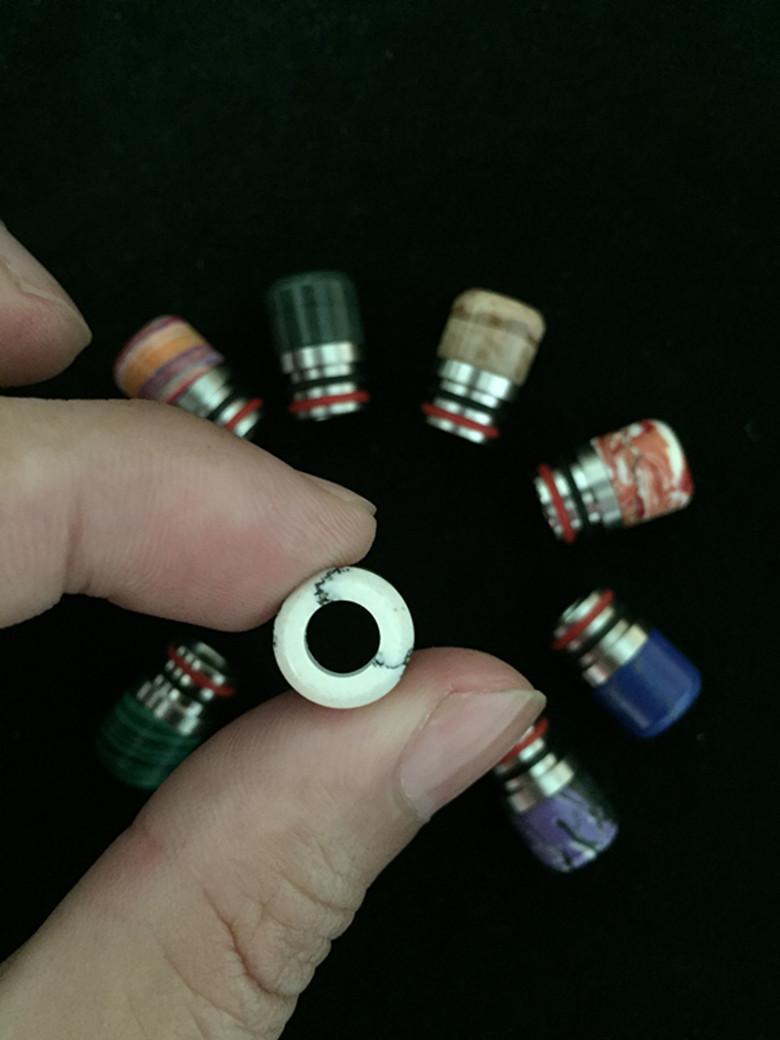 Vendita calda pietra epossidica resina epossidica mini metallo 510 punte a goccia in resina punta a goccia atomizzatore Vape bocca larga bocchino con metallo singolo i