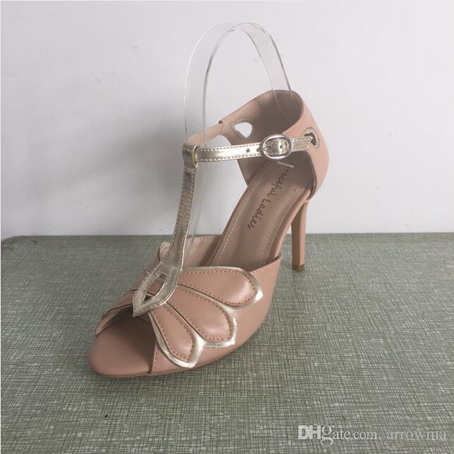 Scarpe da sposa vintage avorio da sposa pumps mimosa chiusura con cinturini fibbia chiusura festa in pelle da ballo 3.5