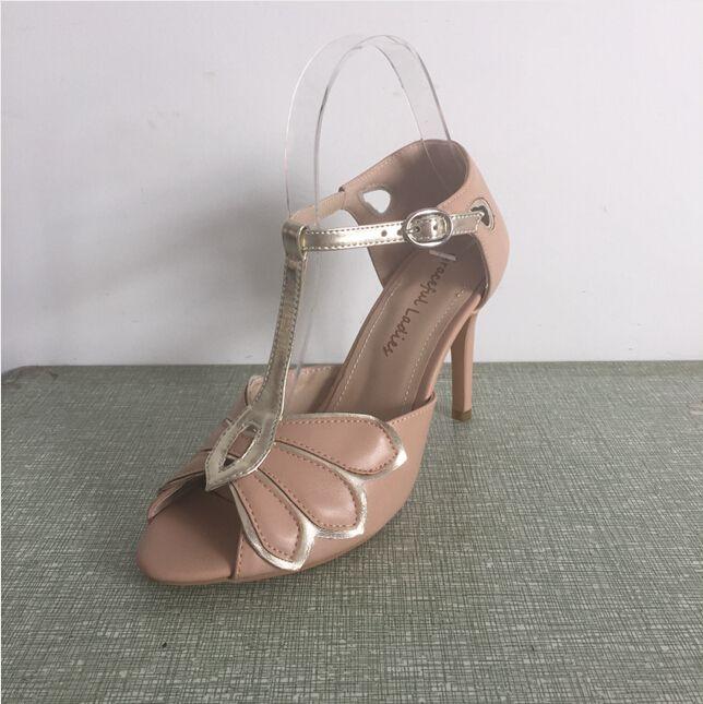 "Vintage Ivory Wedding Shoes Wedding Pumps Mimosa T-Straps Buckle Closure Leather Party Dance 3.5"" Heels Women Sandals Short Wedding Boots"