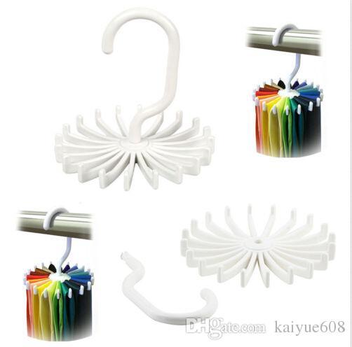 Adjustable Hooks Rotating Belt Scarf Rack Organizer Men Neck Tie Hanger Holds Men Tie Storage holders