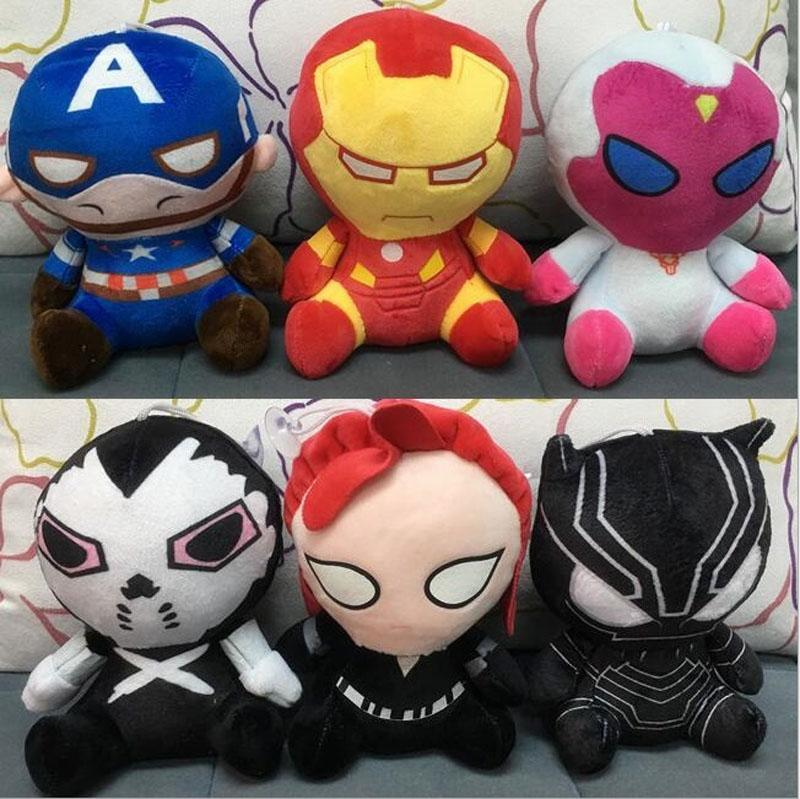 8 дюймов 6 Дизайн Капитан Америка 3 Гражданская война плюшевые куклы EMS 20 см дети Мстители мультфильм Железный Человек плюшевые куклы игрушки B