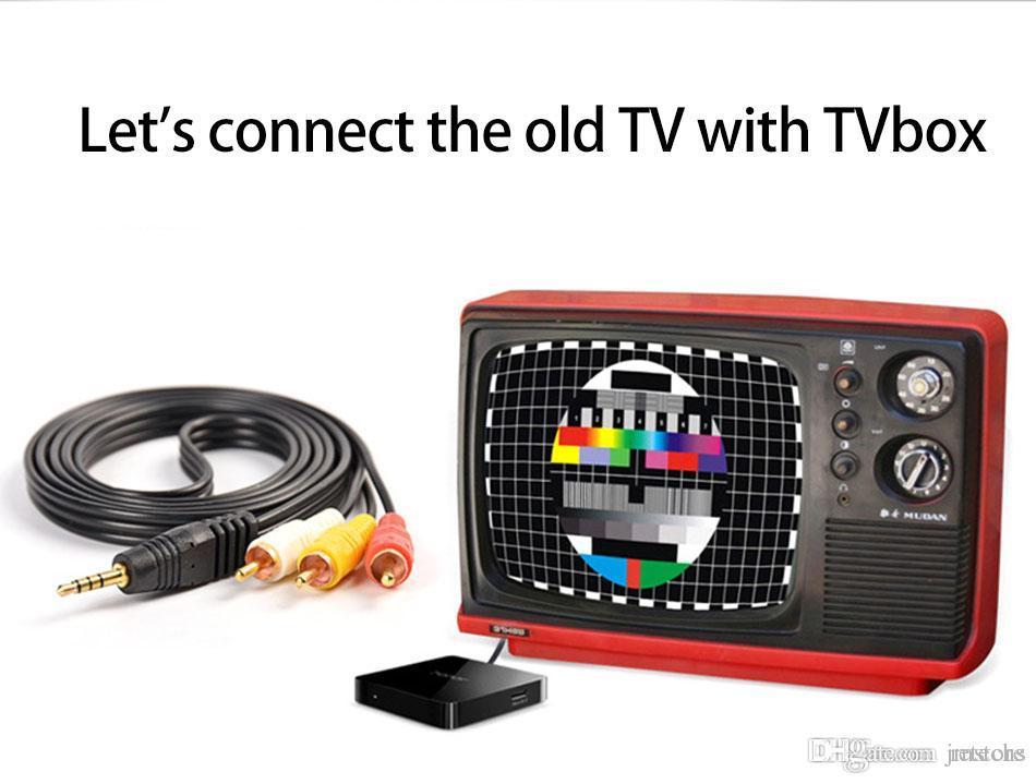 Android tv box Qbox z4 mag250 3,5 mm Jack zu RCA Stecker Adapter Audio Konverter AV Kabel 1,5 Mt 3 Mt 5 Mt