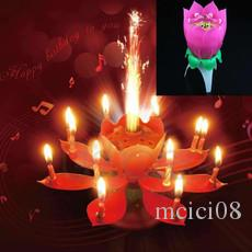 Birthday Party Music Flower Candle New Lotus Candles Happy