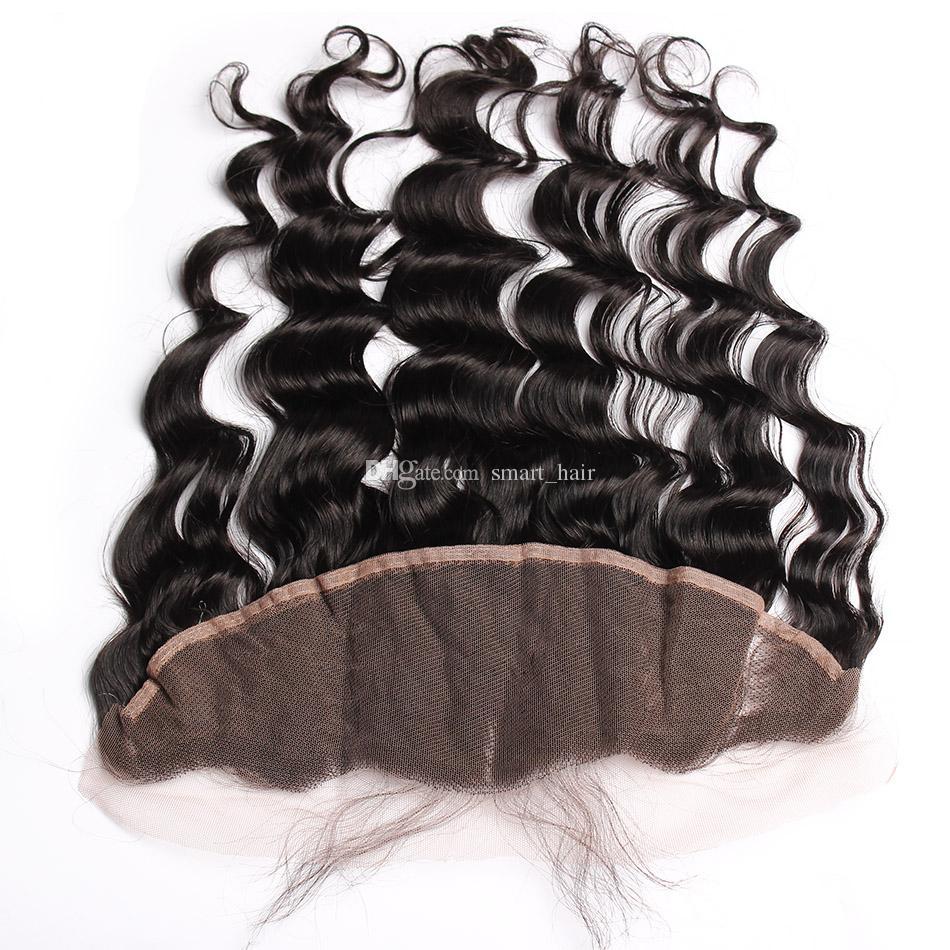 فضفاض موجة الأذن إلى الأذن كامل الرباط المقدمات ابيض عقدة 9a البرازيلي فضفاض مجعد الشعر البشري مع الدانتيل أمامي ل امرأة سوداء