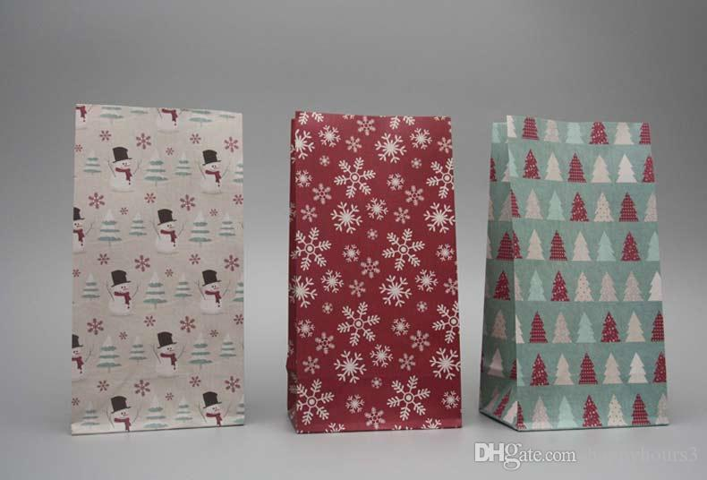 9 conception Bowknot, fleur, sac de papier cadeau de Noël bonbons sacs de cadeau de nourriture de mariage décoration Party Favors bonbons sacs de cadeau