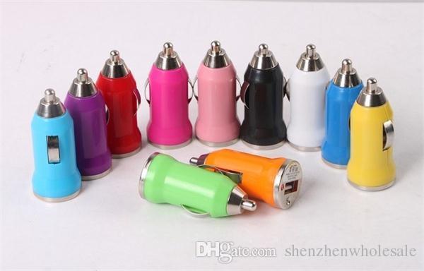 ميني USB شاحن سيارة العالمي USB محول شاحن سيارة ملونة للهاتف الخليوي الهاتف الذكي سامسونج S3 S4 S5 DHL حرية الملاحة
