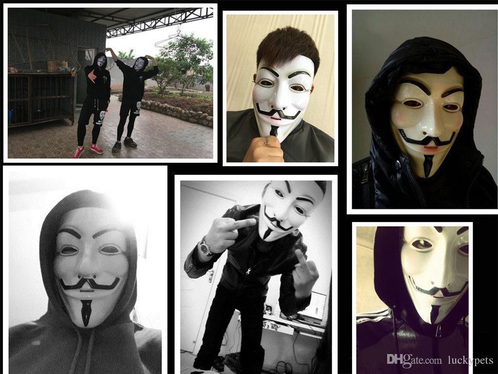 Halloween Party V Vendetta V wort Maske Kostüm Guy Fawkes Anonym Halloween Masken Fancy Cosplay SP
