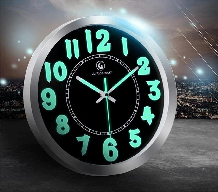 Living Room Clocks Part - 47: 12 Inch Luminous Wall Clock For Living Room Fashion Brief Clock Wall Modern  Design Wall Watch Circular Needle Single Face Clocks