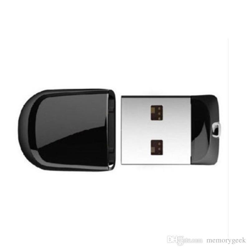 Super Mini de 64 GB 128 GB 256 GB pequeño USB 2.0 Flash Drive de la pluma del palillo Memory Stick U disco giratorios de memorias USB IOS Android paquete al por menor venta al por menor
