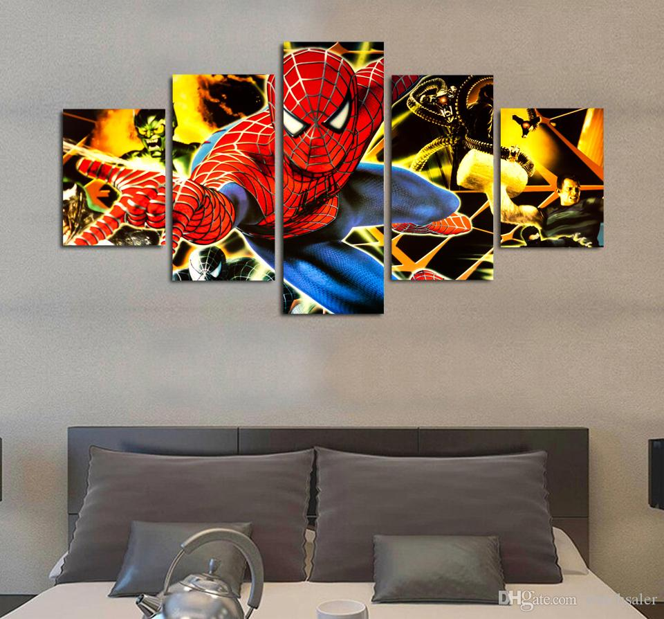 / Set HD Imprimé amical quartier spiderman Peinture Impression Sur Toile chambre décor impression affiche photo toile tableau décoration