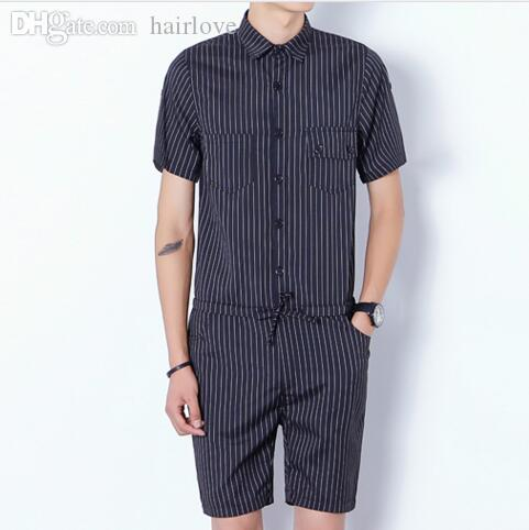 097dfc1da20 2019 Wholesale 2016 Harajuku Gothic Aesthetic Revolution Rompers For Men  Striped Mens Jumpsuit Harem Cargo Overalls Summer Casual Pants Men From  Hairlove