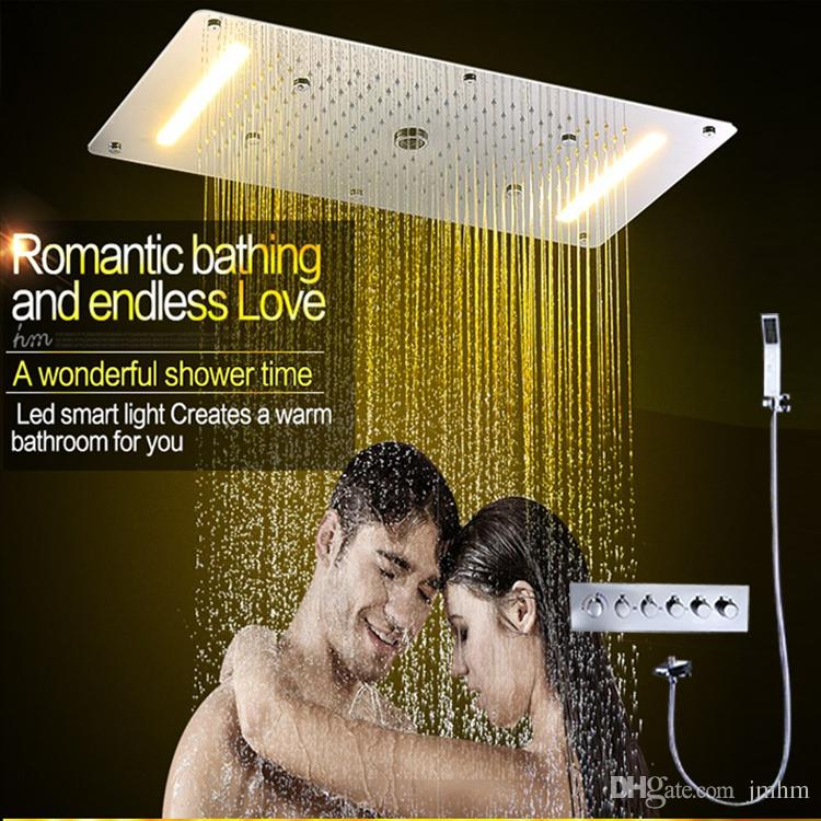 Embed Ceiling Led Shower Set,5 Function Electric Shower Head with ...