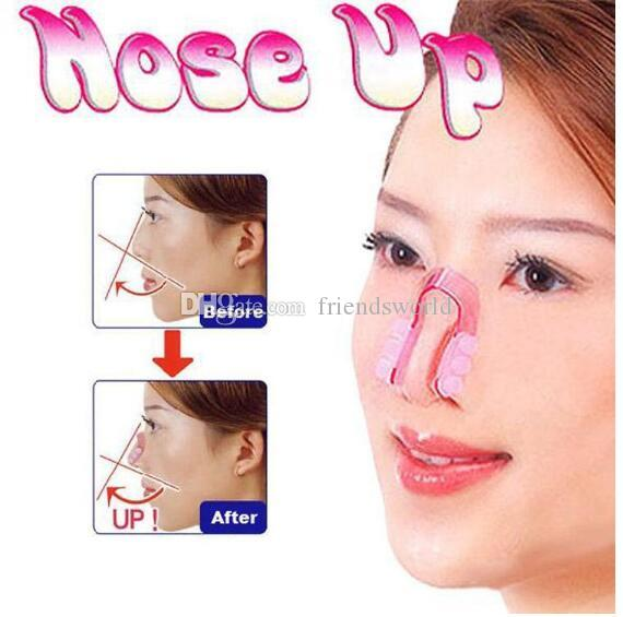 1000pcs/lot Nose UP Silicone Beauty Clip Lifting Shaping Clipper No pain Rhinoplasty Lift Up Slimmer Smaller Align Shape Clip Wrap