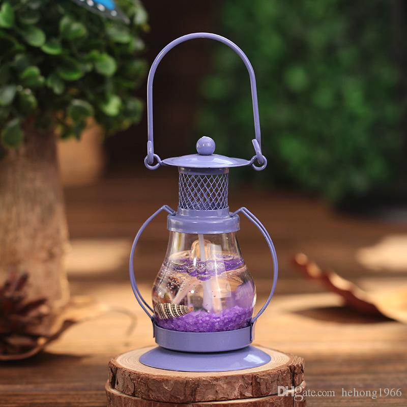 Candle Holder Alcohol Marine Lamp Creative Small Birthday Gift Party Supplies Romantic Portable Iron Candlestick Home Decor 3 99lh KK