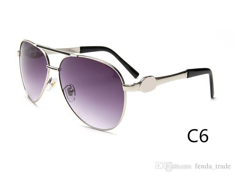 Marke Männer und Frauen Retro-Sonnenbrille neue Farbe helle Metall hochwertige Sonnenbrille großen Rahmen Sonnenbrille 3179 Farben 10 Qualität A +++ M0Q = 10