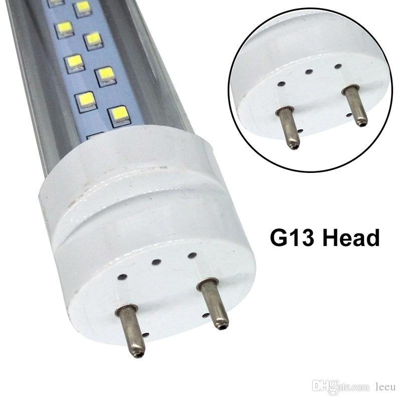 US en stock 28W 4ft T8 G13 Led Tubos Luces dobles filas Tubos fluorescentes Led SMD 2835 AC 85-265V
