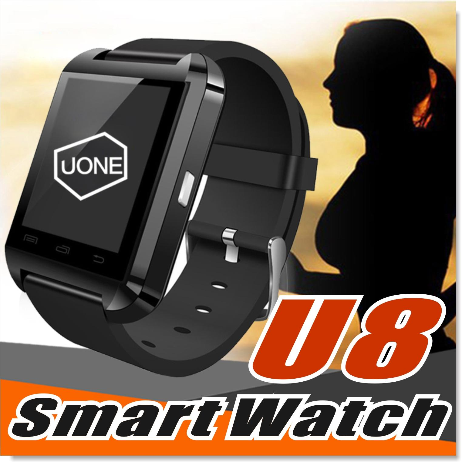 U8 Smart Watch Smartwatch Wrist Watches With Altimeter And Motor For Iphone 7 6 6s Plus Samsung S8 Pluls S7 Edge Android Apple Cell Phone Smart Watch