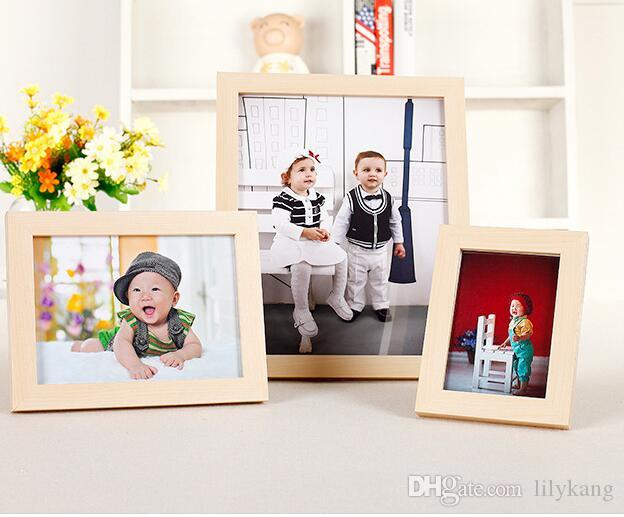 8.9x12.7cm Wood Material Photo picture Frame white wedding wood framesFestival furniture decorating crafts frames business gift