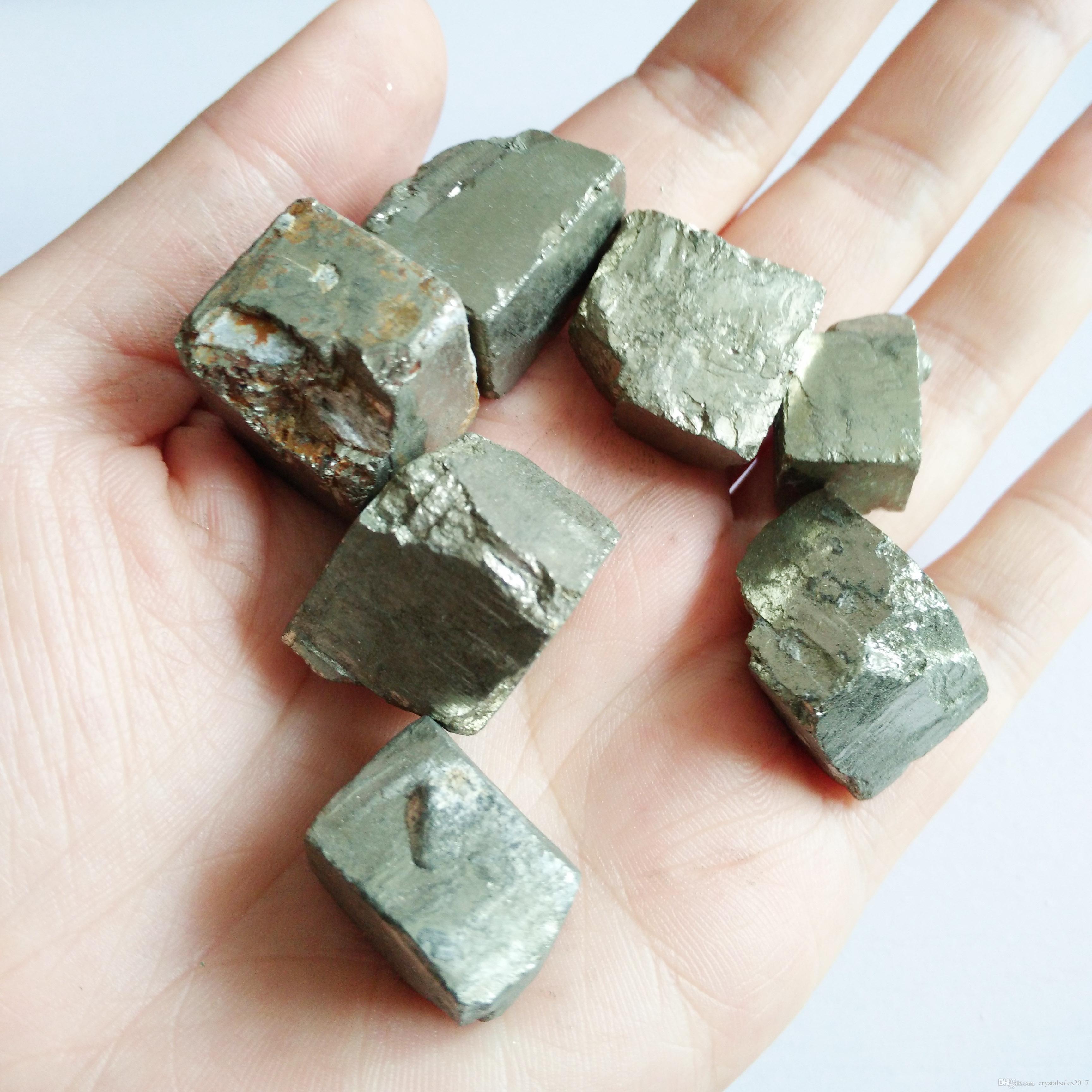 Natürlicher schöner schön Chalkopyrit Würfel Kristallheilung Kristallmineralstein zum Verkauf Trommelstein s Würfelprobe