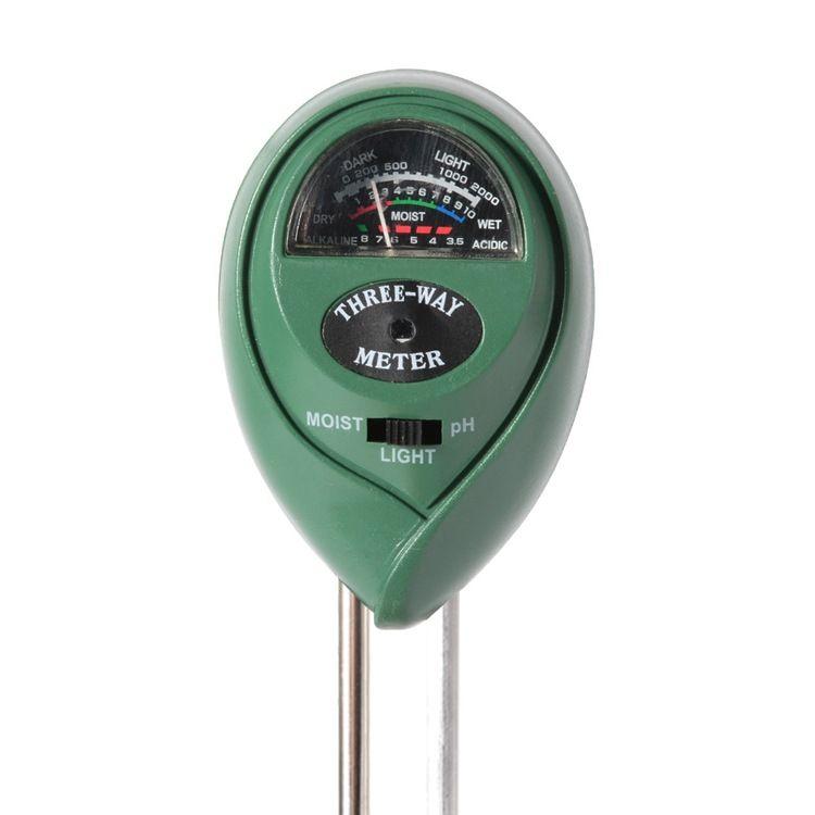 Il più recente misuratore di umidità del terreno 3 in 1 Misuratore di umidità del suolo Umidità / Luce / Valore pH Strumento la messa a terra del potenziometro da giardino Strumento da giardino WX9-31