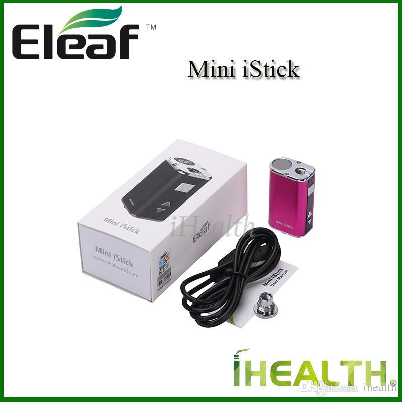 أصيلة Eleaf Mini iStick Kit 1050mah بطارية مدمجة 10 واط ماكس إخراج متغير الجهد وزارة الدفاع 4 colos مع كابل USB موصل الأنا