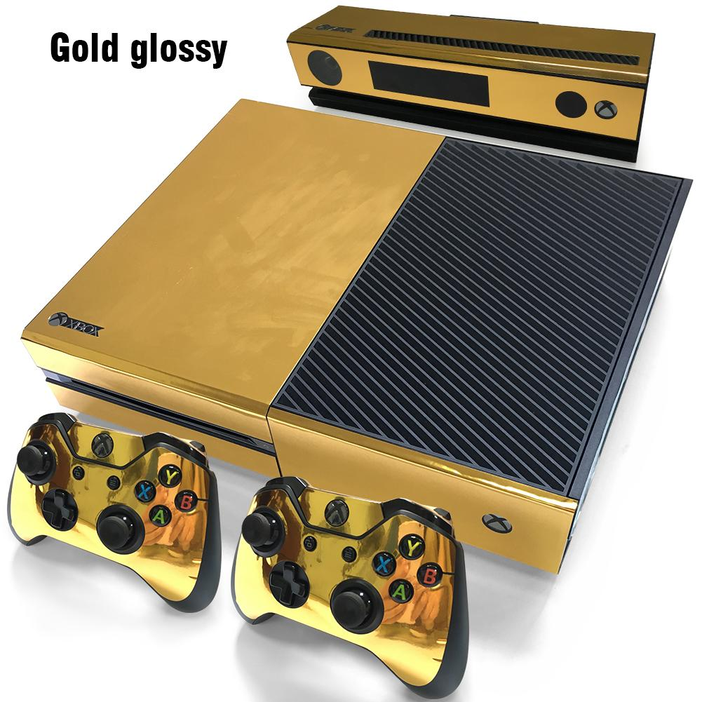 2019 Cool Gold Glossy Decal Skin Stickers For Xbox One
