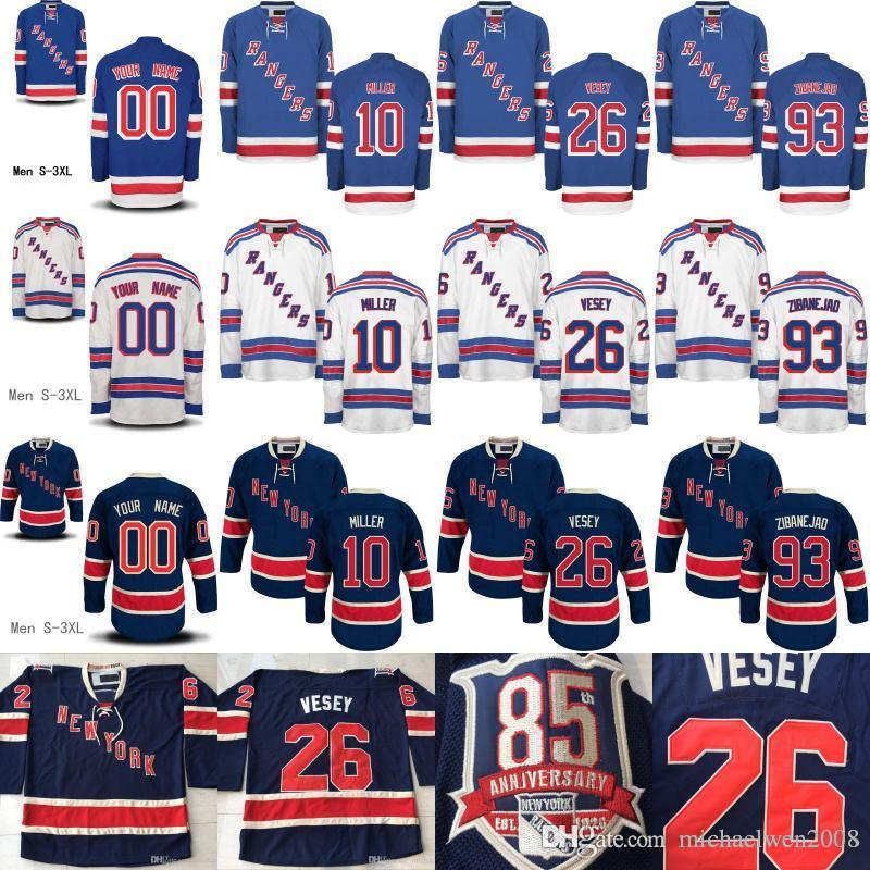 137b90967 93 Stitched Royal NHL Jersey 2017 New York Rangers Jerseys 22 Kevin  Shattenkirk 30 Henrik Lundqvist Custom Any Name Any Number Mika Zibanejad  ...