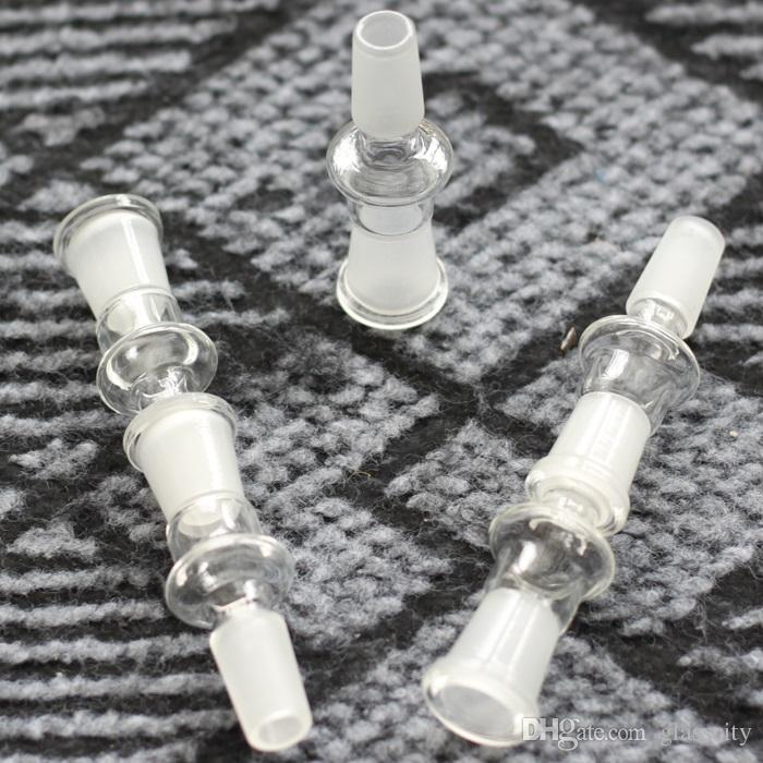 adaptador de bong al por mayor de cristal 14 varón a 14 hembra junta de 14.4mm 18.8mm para el bong de cristal
