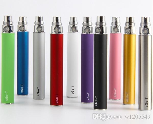 Elektronik Sigara için EGO Pil E-çiğ Ego-T 510 Konu maç CE4 atomizer CE5 clearomizer CE6 650mah 900 mah 1100 mah 9 Renkler ücretsiz