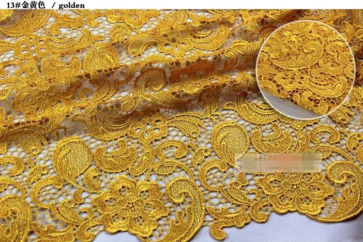 2019 encantadoras tapas de encaje de alta calidad es solubles en agua 3D encaje africano Venecia encaje telas / telas del vestido de boda envío gratis HY1178