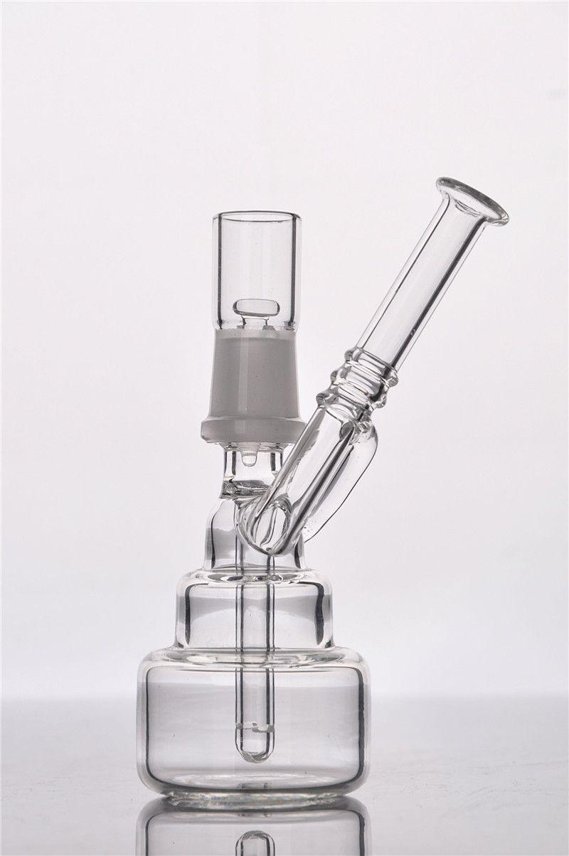 14 mm de vidrio Nail Pure Oil Rigs Bongs de agua de vidrio con clavo Recycler Tubos de agua Bongs de cristal Hookah Shisha Perc Ice Splash