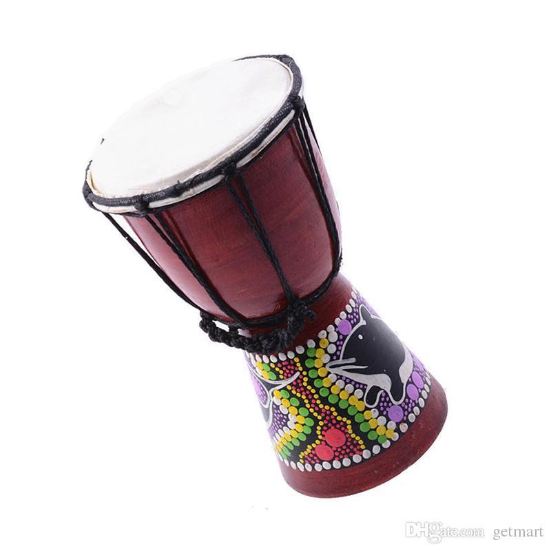 Tambour à main de percussion Djembe africain de 4 pouces à vendre, tambour en bois Jambe / Doumbek